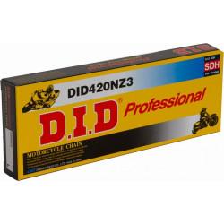 [DID] Цепь NZ3 SDH 420 B&B 120 звеньев с замком-защелкой, черная