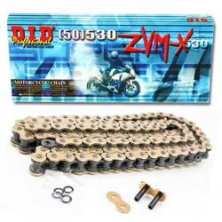 [DID] Цепь ZVM-X 530 G&G 114 звеньев с замком-заклепкой, золотая