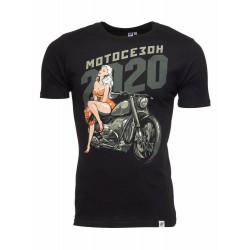 """Футболка мужская """"МОТОСЕЗОН 2020"""" Черная"""